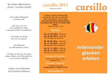 Flyer Cursillo 2013