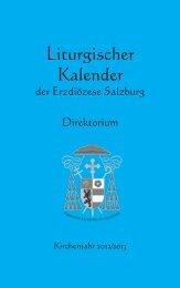 Liturgischer_Kalender 2012/2013 - Erzdiözese Salzburg
