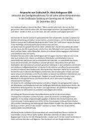 Ansprache von Erzbischof Dr. Alois Kothgasser SDB anlässlich des ...