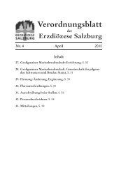 Verordnungsblatt - Erzdiözese Salzburg