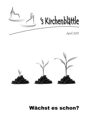 Gemeindebrief April 2011 - Evang. Kirchenbezirk Bad Urach