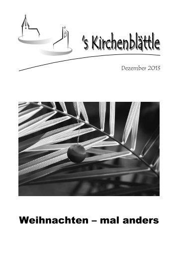 Gemeindebrief Dezember 2013 - Evang. Kirchenbezirk Bad Urach