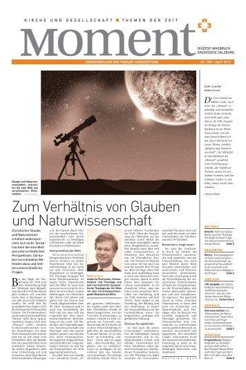 Zum Verhältnis von Glauben und Naturwissenschaft - Erzdiözese ...