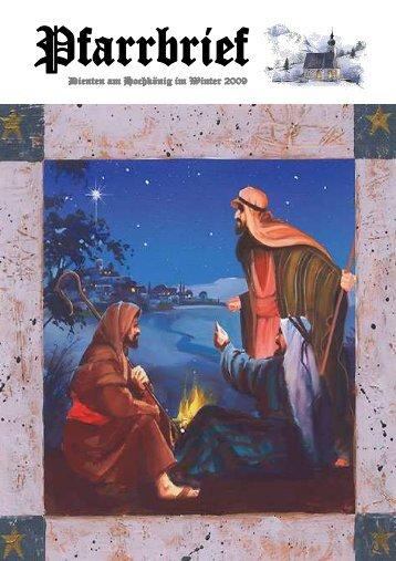 Pfarrbrief Weihnachten 2009 (5,41 MB) - .PDF - Dienten am ...