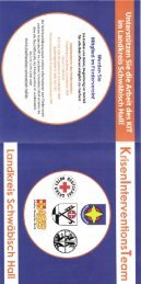 Flyer Krisenintervension I - Kirchenbezirk Crailsheim
