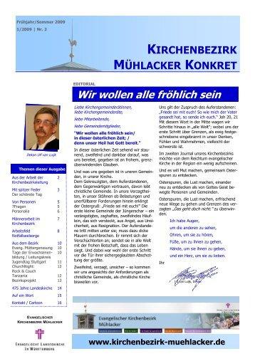 Nr 2 Kirchenbezirk MÜhlacker Konkret 1-2009 fertig - Evangelischer ...