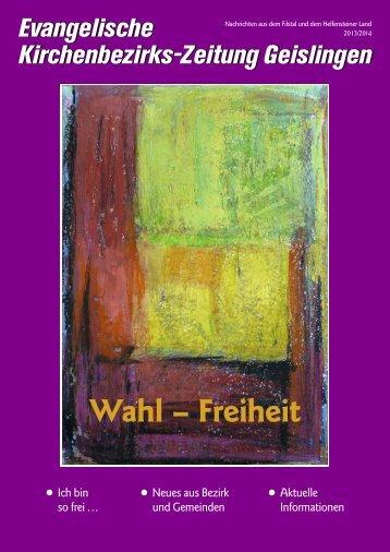 Wahl – Freiheit - Evangelischer Kirchenbezirk Geislingen
