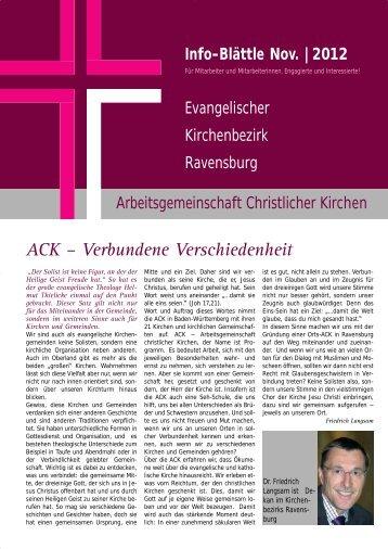 ACK – Verbundene Verschiedenheit - Evangelischer Kirchenbezirk ...