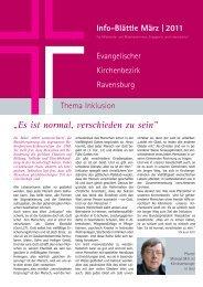März 2011: Thema Inklusion - Evangelischer Kirchenbezirk ...