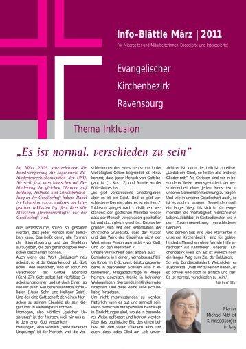 """""""Es ist normal, verschieden zu sein"""" - Evangelischer Kirchenbezirk ..."""