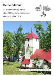 März 2013 - Evangelischer Kirchenbezirk Schwäbisch Hall