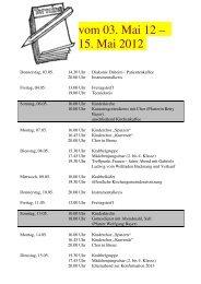 vom 03. Mai 12 – 15. Mai 2012