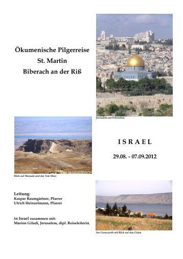 Programm der Reise - Evangelischer Kirchenbezirk Biberach