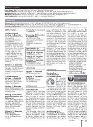 Pfarreiseite - Kirchenblatt