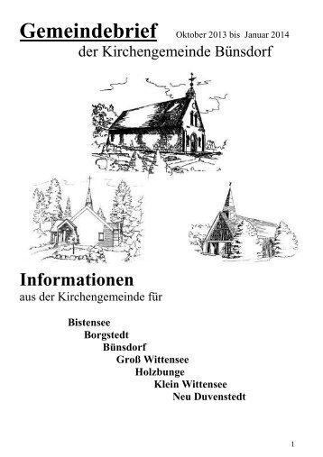 Oktober 2013/Januar 2014 (580kb ) - Kirchengemeinde Bünsdorf