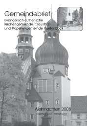 Dezember 2008 bis Februar 2009 - Kirchengemeinde Clausthal