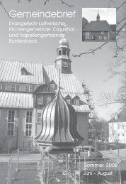 Juni bis August 2008 - Kirchengemeinde Clausthal
