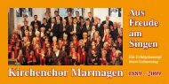 Info-Broschüre - Kirchenchor Marmagen