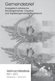 Dezember 2011 bis Februar 2012 - Kirchengemeinde Clausthal