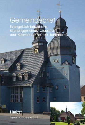 September bis November 2013 - Luth. Marktkirchengemeinde ...