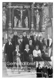 März bis Mai 2009 - Kirchengemeinde Clausthal