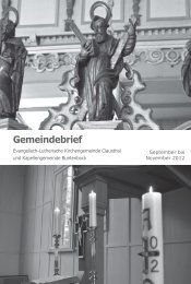 September bis November 2012 - Kirchengemeinde Clausthal