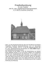 Friedhofsordnung Buntenbock 1.5.2013 - Kirchengemeinde Clausthal
