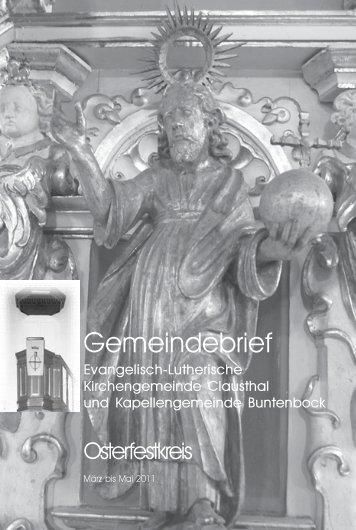 März bis Mai 2011 - Kirchengemeinde Clausthal