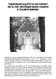 Friedhofsordnung - Kirchengemeinde Clausthal