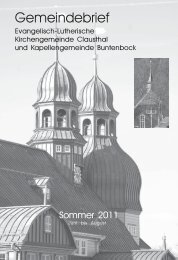 Juni bis August 2011 - Kirchengemeinde Clausthal