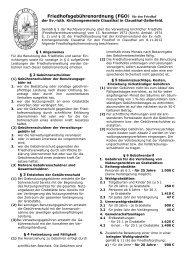 Friedhofsgebührenordnung - Luth. Marktkirchengemeinde Clausthal