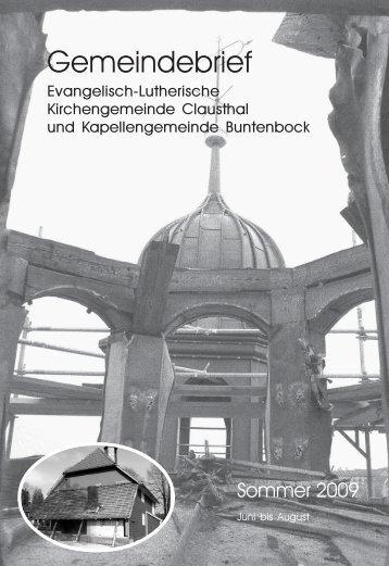 Juni bis August 2009 - Kirchengemeinde Clausthal