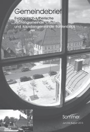 Juni bis August - Kirchengemeinde Clausthal