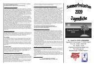 Prospekt 2009 - Teeny - Evangelische Kirchengemeinde Langenberg
