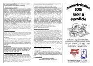 Prospekt 2005 - JS-Teeny - Internet.pub - Evangelische ...