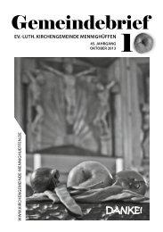 Gemeindebrief - Ev.-Luth. Kirchengemeinde Mennighüffen