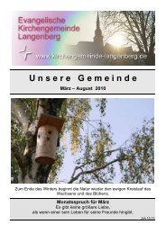 U nsere G emeinde - Evangelische Kirchengemeinde Langenberg
