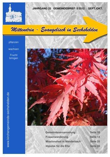 Gemeindebrief 2012 September Oktober - Kirchengemeinde ...