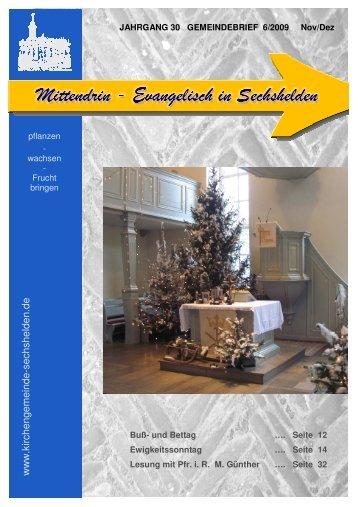 Gemeindebrief 2009 06 November Dezember - Kirchengemeinde ...