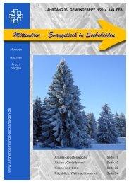 Gemeindebrief 2014 01 Jan. - Febr. - Kirchengemeinde Sechshelden