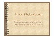 Esinger Kirchenchronik - Luth. Kirche Tornesch