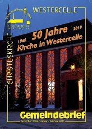 Ausgabe 2009/10 - Kirchengemeinde Westercelle