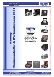 Katalog Werkzeugkoffer & Werkstattwagen 2014