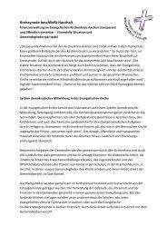 Kreissynode beschließt Haushalt - Evangelischer Kirchenkreis Aachen