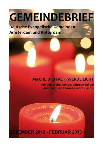 Gemeindebrief der deutschen evangelischen Gemeinden ...