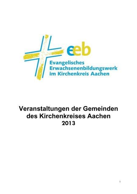 Gemeinde-Termine Kirchenkreis Aachen 2013 - Evangelischer ...