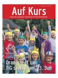 Auf Kurs_Ausgabe Juni 2012 - Kirchenjournal »Auf Kurs