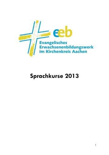 Sprachenprogramm 2013 - Evangelischer Kirchenkreis Aachen
