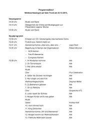 13-11-07 Programmablauf - Evangelischer Kirchenkreis Aachen