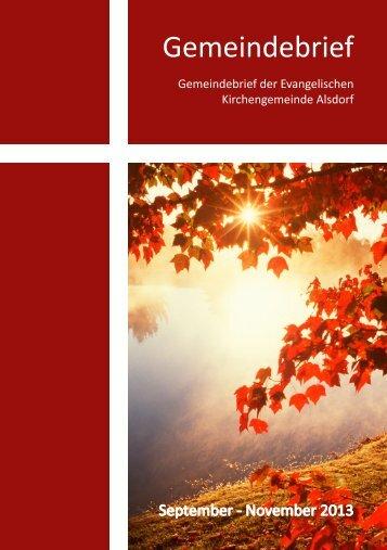 Gemeindebrief - Evangelischer Kirchenkreis Aachen